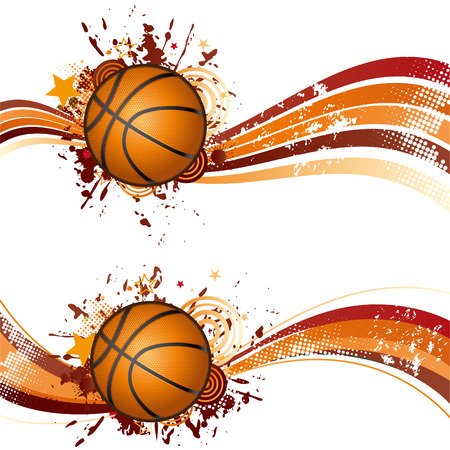 star border: basketball design element Illustration