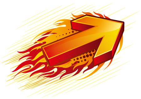 flame: red flame arrow
