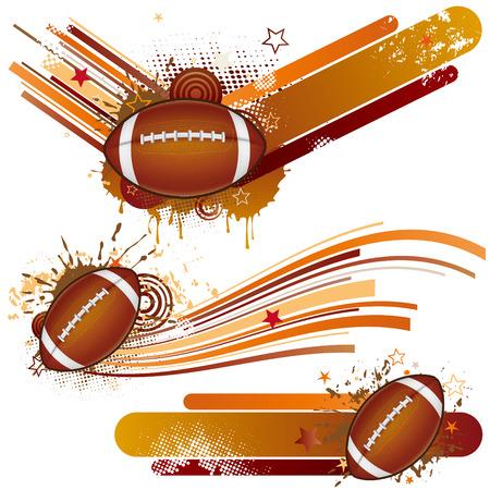 football silhouette: elemento di design di football americano