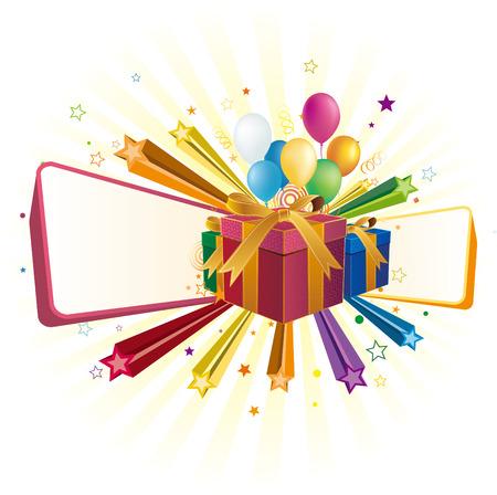 gift box,balloon,star,celebration background Stock Vector - 7528660
