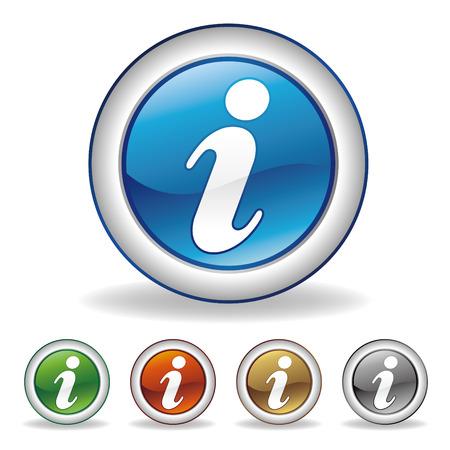 computer support: informazioni icona Vettoriali
