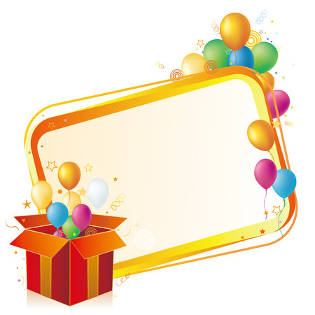 gift box,balloon,celebration background Illustration
