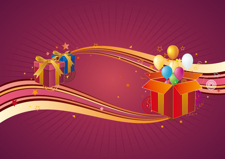 gift box,balloon,celebration background Vector