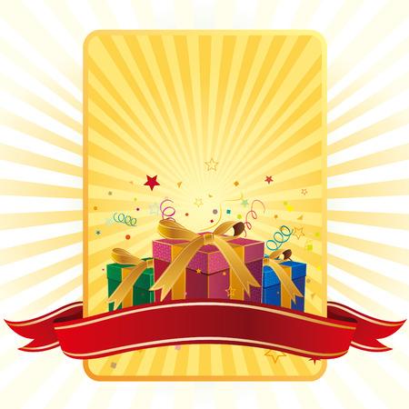 gift box,celebration background Stock Vector - 7528648