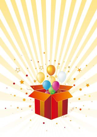 gift box,balloon,celebration background Stock Vector - 7528666