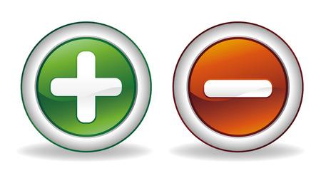 bouton ajouter: addition et soustraction ic�ne