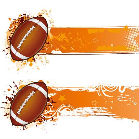 grunge football: football design element