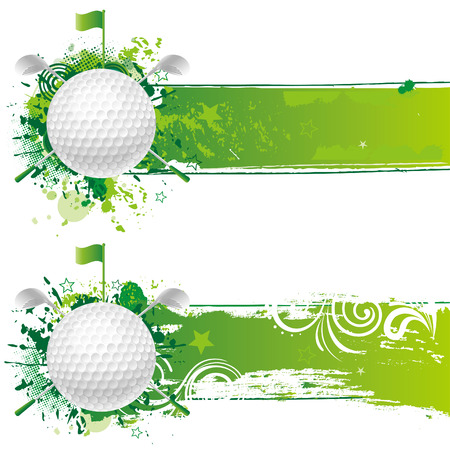 play golf: golf design element