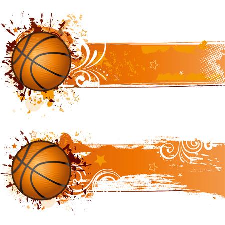 yellow ball: basketball design element Illustration
