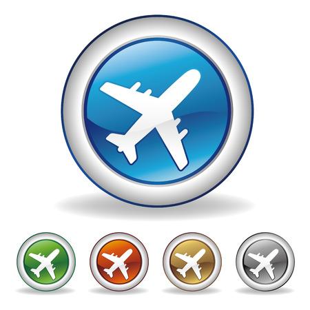 aereo icona: icona di aeroplano  Vettoriali
