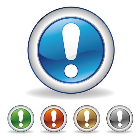 fouten: aandacht pictogram Stock Illustratie