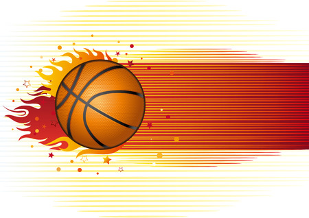 circular silhouette: basketball sport design element