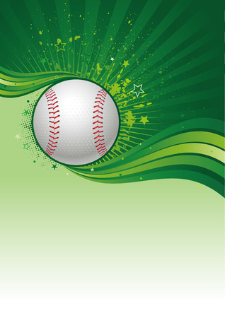 baseball sport design element Vector