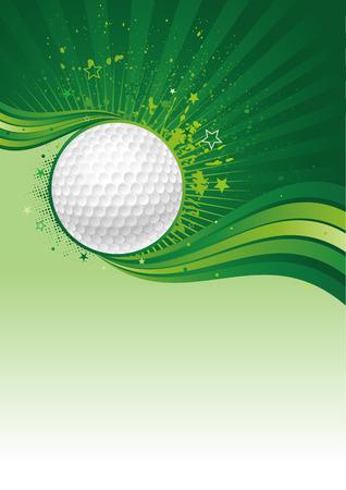 golfball: golf sport design element Illustration