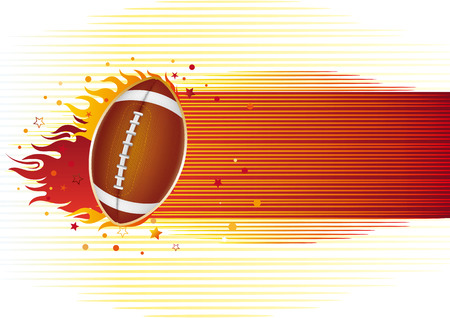 american football sport design element Vector
