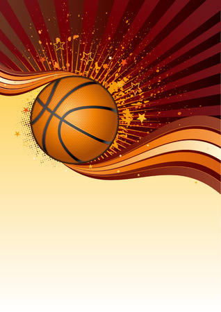 basketball sport design element Vector