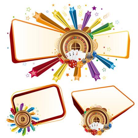 roulette game: colorful star,casino design elements Illustration