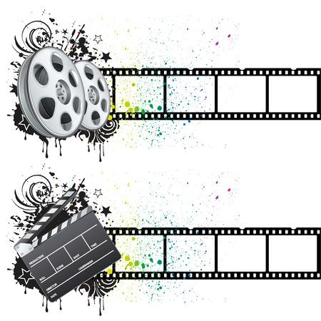 film strip: film strip,movie theme element
