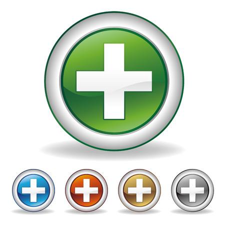 pharmacy cross icon Vector