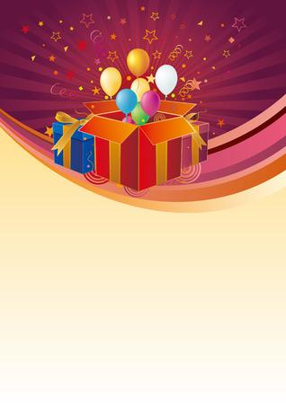 gift box,balloon,celebration background Stock Vector - 7558143