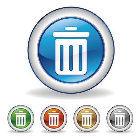 cesto basura: icono de Papelera  Vectores