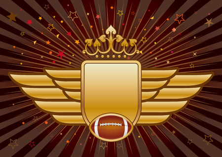 american football,shield and crown Vector