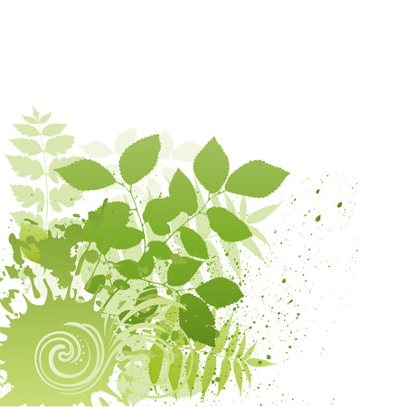 grunge leaf: illustration-grunge nature leaf
