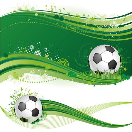 voetbal silhouet: voet bal sport ontwerp element  Stock Illustratie