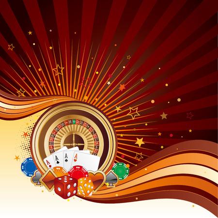 gambling chip: elementos de dise�o de Casino, fondo abstracto