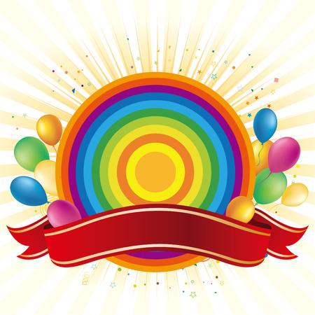 rainbow,balloon,celebration background Stock Vector - 7559783