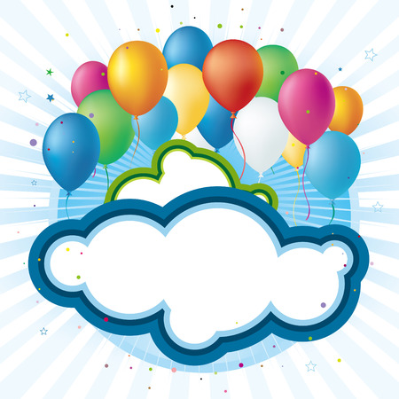 balloons,celebration background Vector