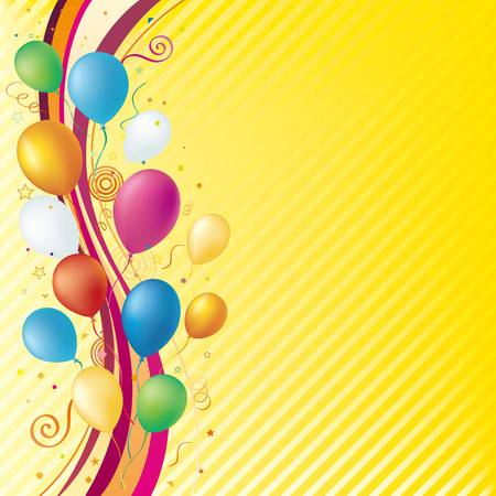 festive occasions:  balloons,celebration background Illustration