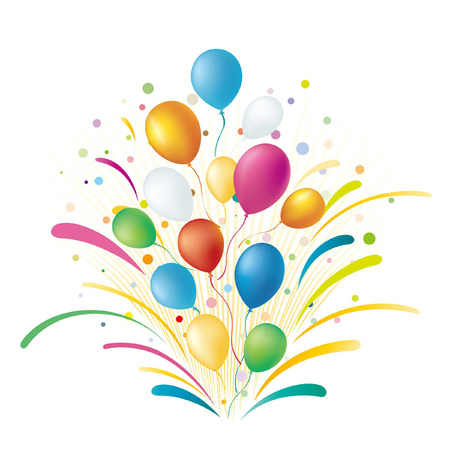 konfeti:   balloons,celebration background