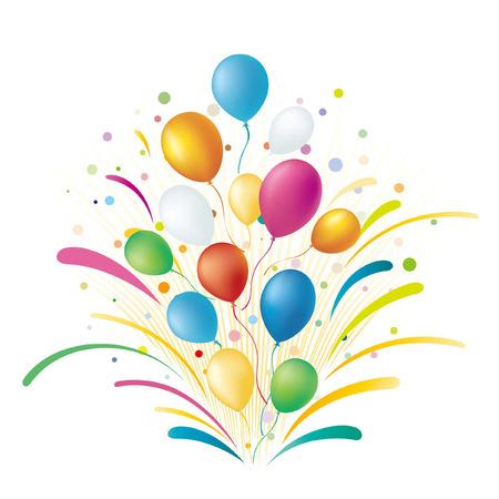 balloons,celebration background Stock Vector - 7580278