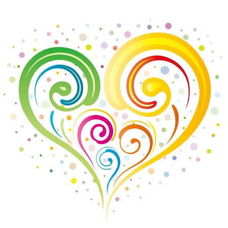 funky:   illustration-colorful heart Illustration