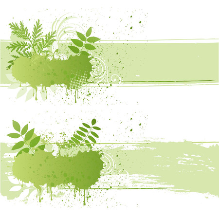 illustration-grunge nature leaf Stock Vector - 7580310