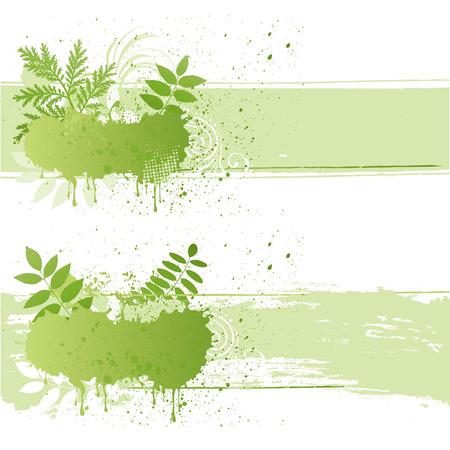 illustration-grunge nature leaf