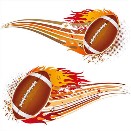 football american: flame,american football design element