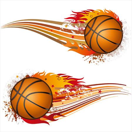 cerillas: llama, elemento de diseño de baloncesto  Vectores