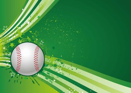 baseball sport design element,green background Vector
