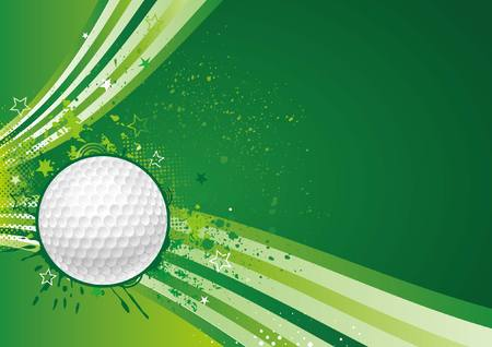 golf equipment: golf sport design element Illustration