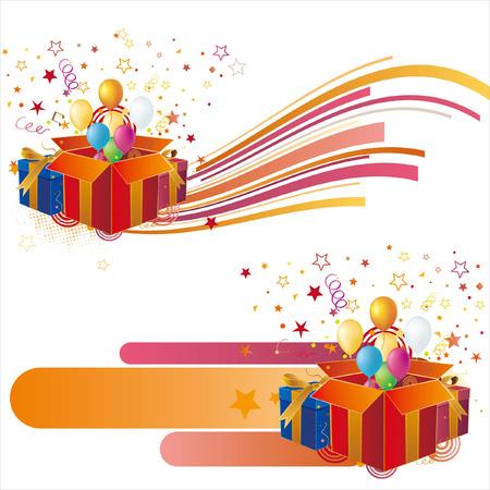 gift box,balloon,celebration background Stock Vector - 7580316