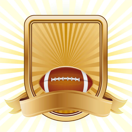 american football,shield,yellow background Vector