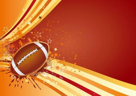 pelota rugby: elemento de diseño de deporte de fútbol americano  Vectores