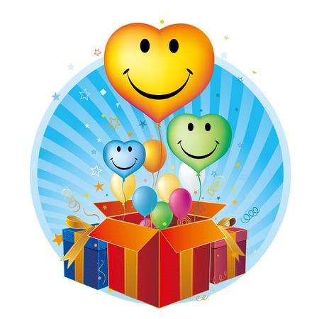disign: balloons,heart,celebration disign element Illustration