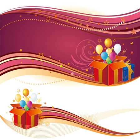 gift box,balloon,celebration background Vector