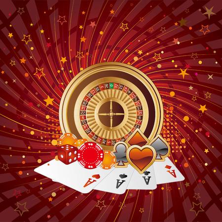 roulette: elementi di design di casin�, sfondo astratto  Vettoriali