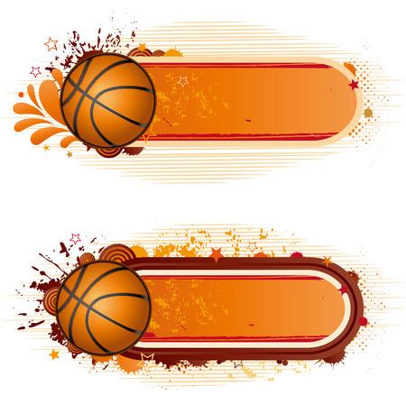 circular silhouette: design elements-basketball