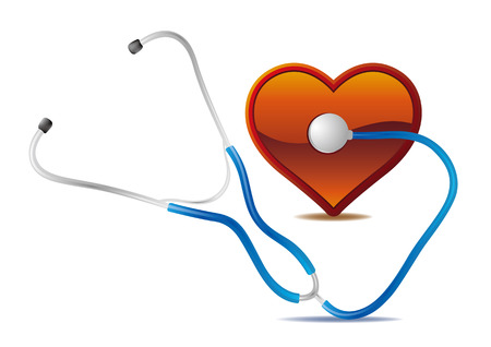 stethoscope and red heart Stock Vector - 7580270