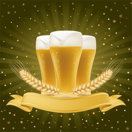 design element for beer Vector